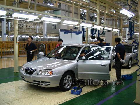 感受现代速度 深入参观北京现代汽车厂高清图片