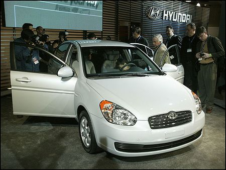 北京现代明年投产的新款accent,今天亮相广州车展高清图片
