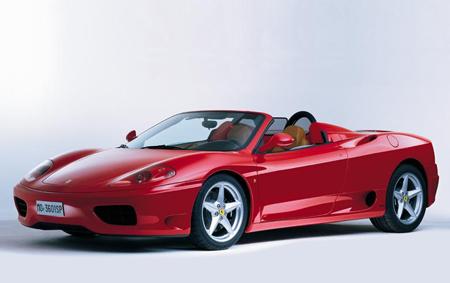 敞篷   跑车   .法拉利360spider在汽车世界有着一个特殊的高清图片